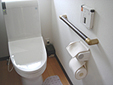 トイレのクリーニングサンプルです。
